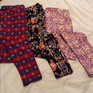 LuLaRoe Pants - Lularoe leggings Tall Curvy 3 pack